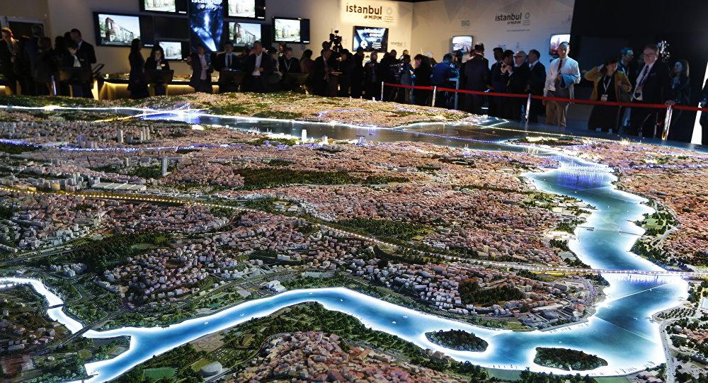 Modelo da cidade turca de Istambul