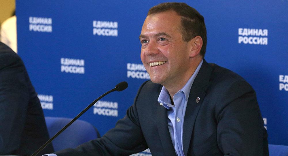 Primeiro-ministro russo Dmitry Medvedev