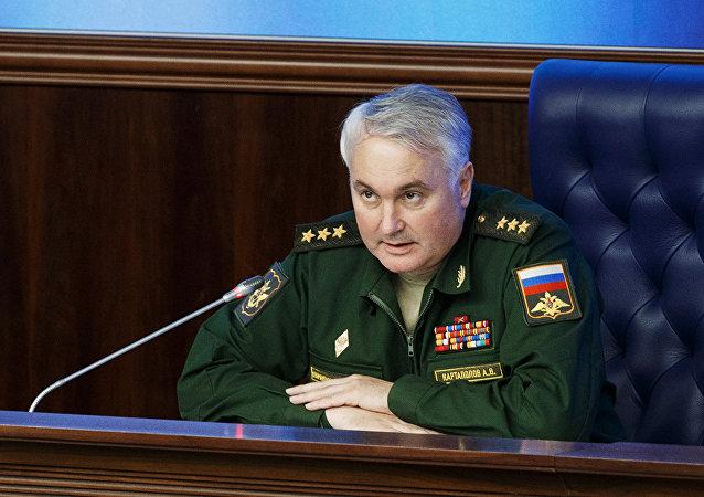 Coronel-general Andrei Kartapolov, alto representante do Estado-Maior das Forças Armadas da Rússia na Síria