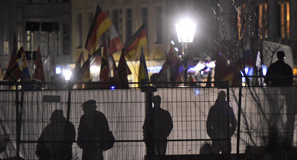 Manifestação anti-islâmica do grupo Pegida na Alemanha