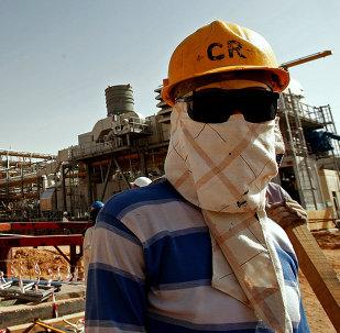 Usina de processamento de petróleo de Khurais, da Saudi Aramco, na Arábia Saudita