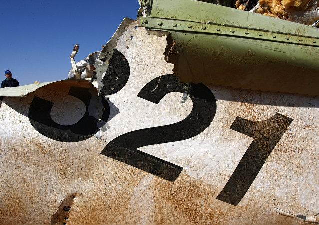 Destroços do A321 russo caido no Egito