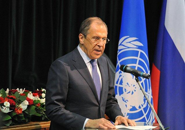 Ministro das Relações Exteriores da Rússia Sergei Lavrov