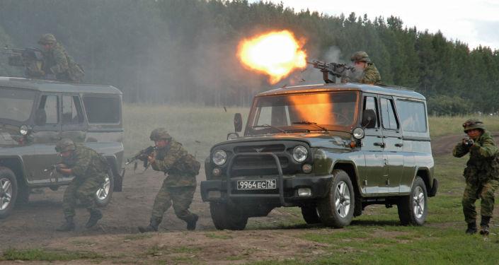 Forças Especiais do Ministério da Defesa da Rússia durante exercícios antiterroristas