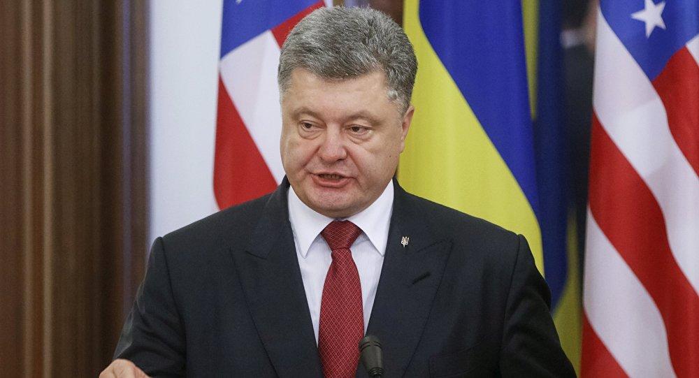 Presidente da Ucrânia, Pyotr Poroshenko (arquivo)