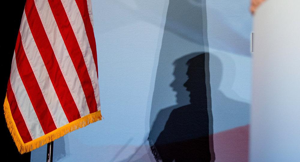 Um candidato à presidência dos EUA fala em Washington. 18 de junho, 2015