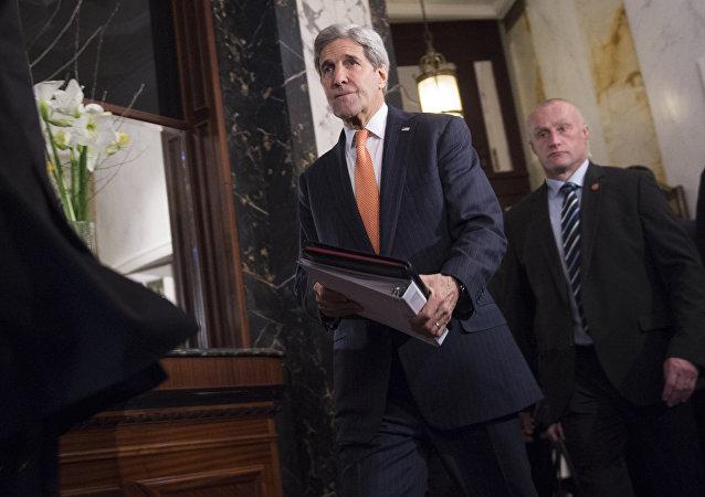 John Kerry, secretário de Estado dos EUA, chega a conferência sobre a Síria em Viena