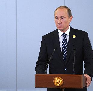 Vladimir Putin durante cúpula do G20 em Antalya