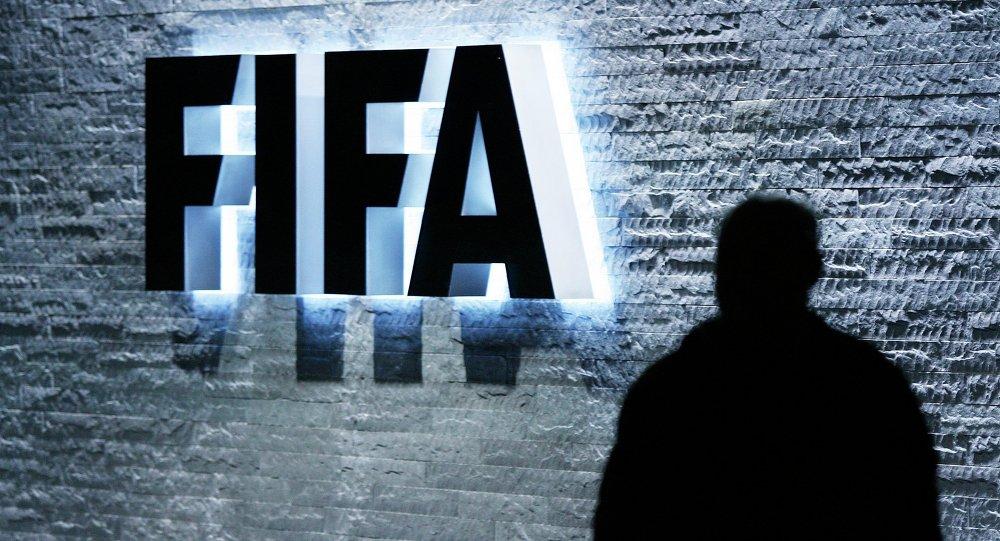 Logo da FIFA no QG da empresa em Zurique, na Suíça