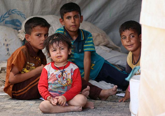 Crianças iraquianas da província de Andar, Iraque, 23 de agosto de 2015