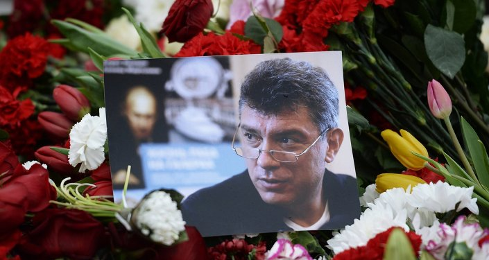 Flores depositadas no local de assassinato de Boris Nemtsov