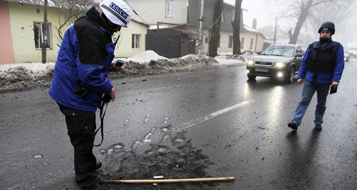 Observadores da OSCE em Donbass