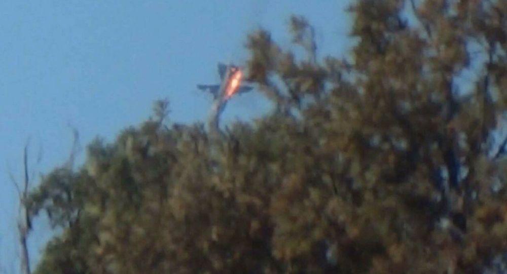 O Su-24 russo derrubado pela FA da Turquia em 24 de novembro, 2015