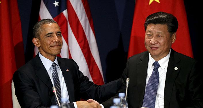 O presidente dos EUA, Barack Obama, durante encontro com o líder chinês, Xi Jinping, na abertura da COP21