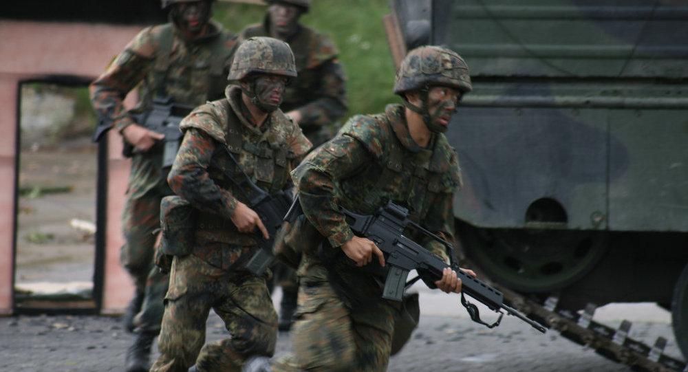 Soldados do Bundeswehr (exército da Alemanha)