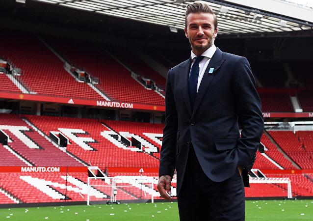 David Beckham, antigo jogador do Manchester United e da seleção inglesa