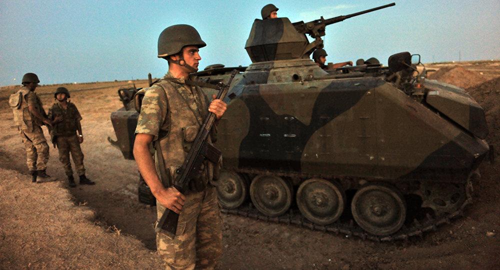 Soldados turcos na Síria