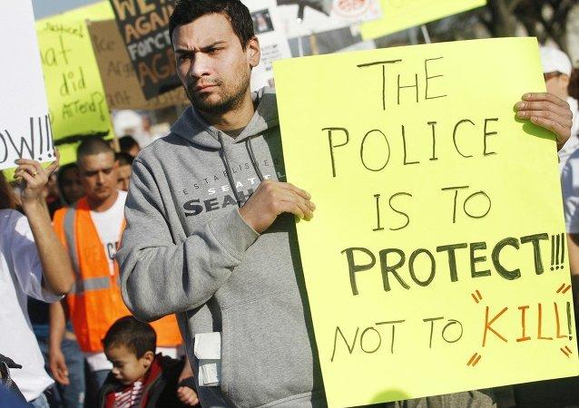 Protesto contra violência policial