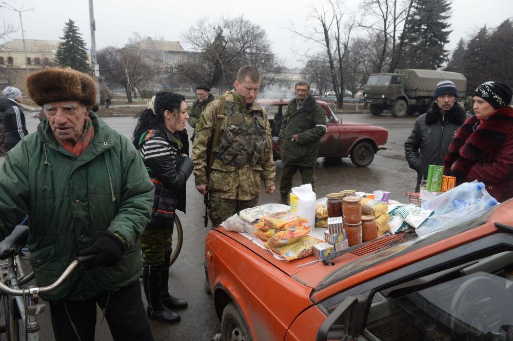 Venda de produtos alimentícios em Debaltsevo