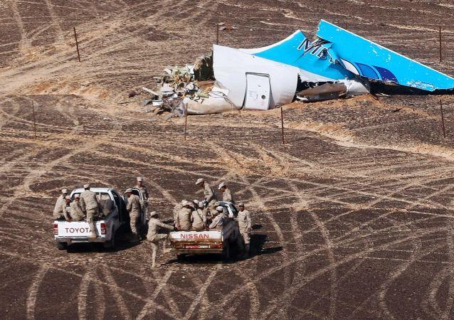 Local de queda do avião russo Airbus A321 no Egito