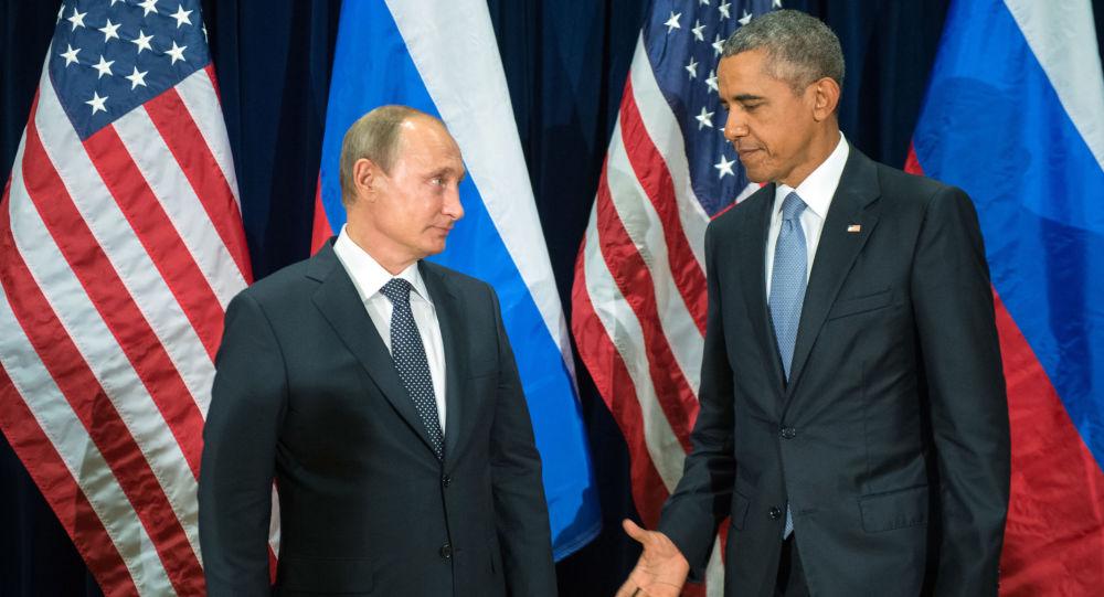 Presidente da Rússia Vladimir Putin e presidente dos EUA Barack se encontram às margens da 70ª da Assembleia Geral da ONU, em Nova York