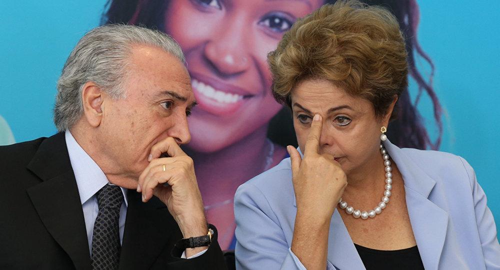 Dilma Rousseff e o vice-Presidente, Michel Temer, se encontram nesta quarta-feira (9)
