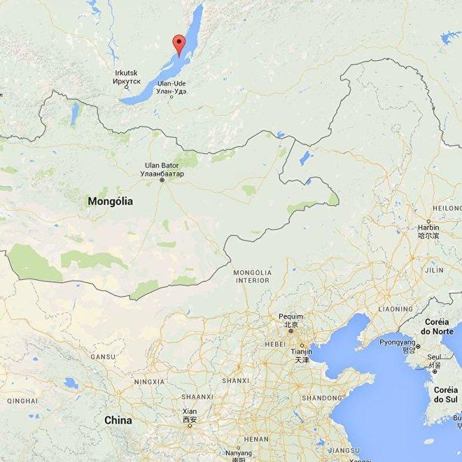 Localização do lago Baikal