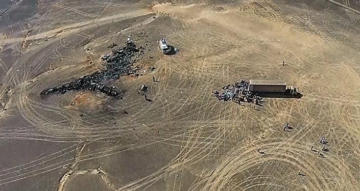 Operação de resgate no local da queda do avião russo