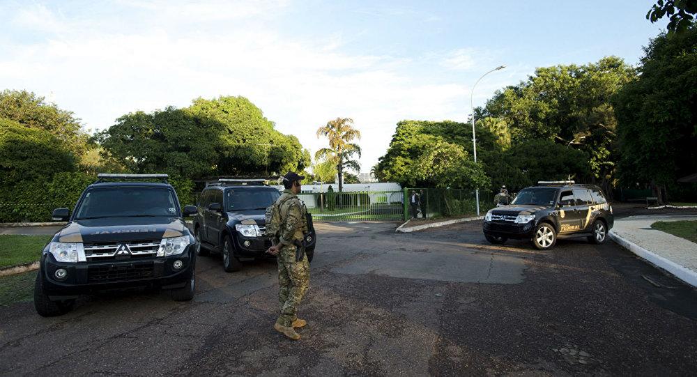Polícia Federal na casa de Eduardo Cunha.