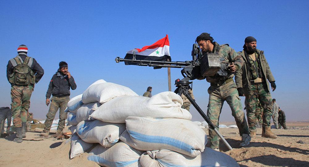 Soldados do Exército da Síria
