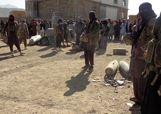 Militantes do Talibã no Afeganistão