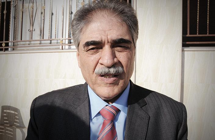Huseyin Azam, vice-governador da região de Cezire no Curdistão sírio