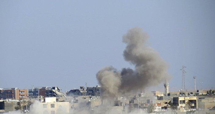 Posição do Daesh após ataque aéreo da coalizão internacional