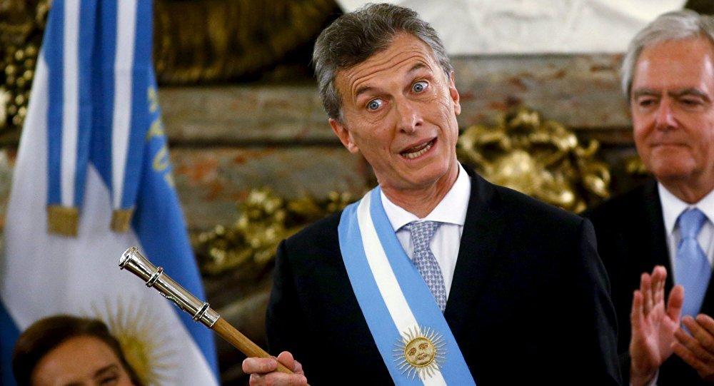 Presidente da Argentina, Mauricio Macri, logo após a tomada de posse na Casa Rosada
