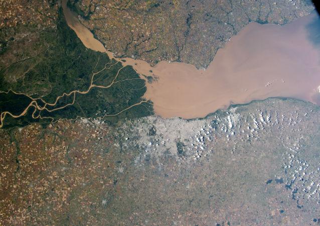 Rio Paraná visto do espaço