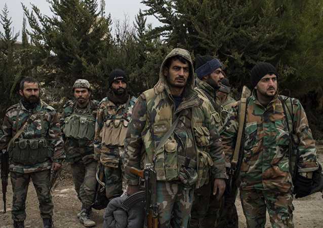 Exército sírio no sudeste de Damasco