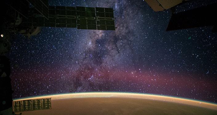 Via Láctea vista da Estação Espacial Internacional
