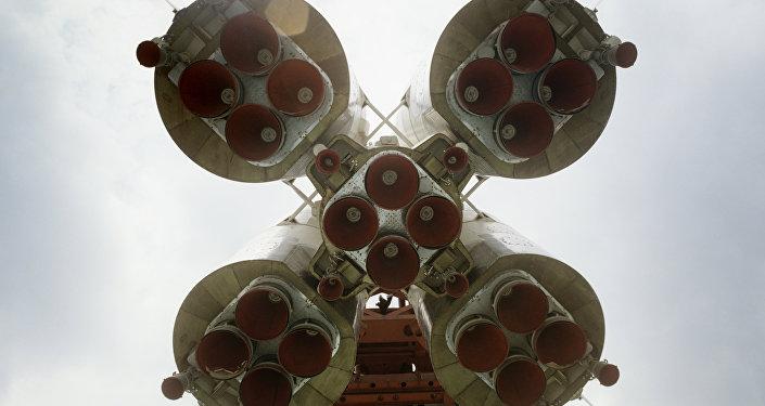 Motores a jato dum foguete russo