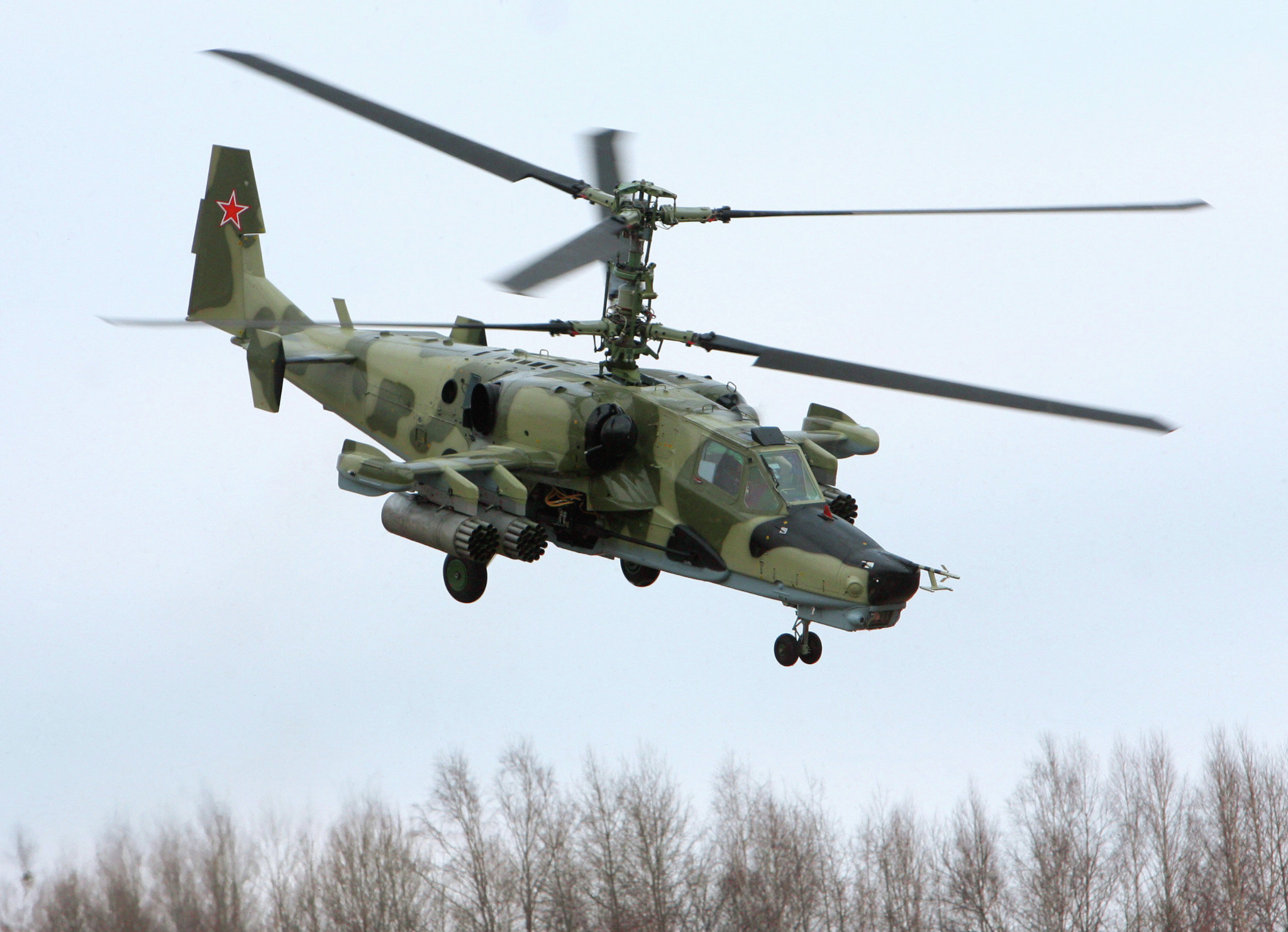Helicóptero de assalto, Ka-50, foi batizado com um apelido óbvio de 'Tubarão Negro' (Chornaya Akula)