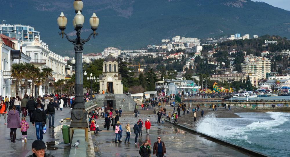 Orla de Yalta em janeiro, Crimeia