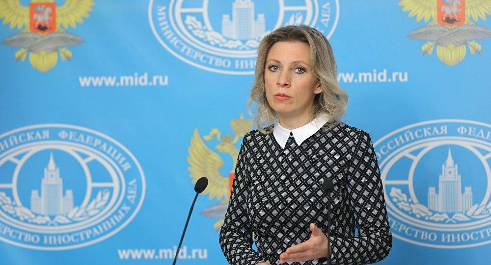 A porta-voz do Ministério das Relações Exteriores da Rússia Maria Zakharova