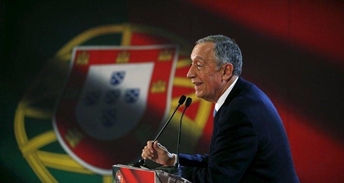 Marcelo Rebelo de Sousa em campanha à presidência de Portugal