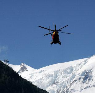 Helicóptero do serviço de emergências