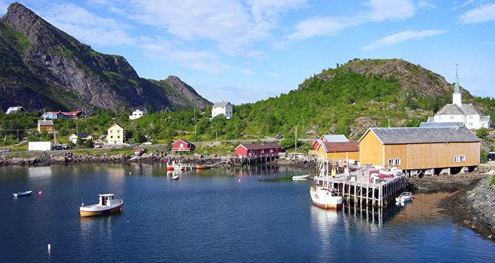 Lofoten, na Noruega