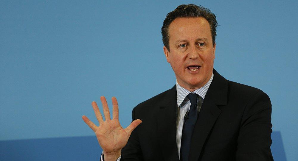 David Cameron, primeiro-ministro do Reino Unido (Grã-Bretanha)
