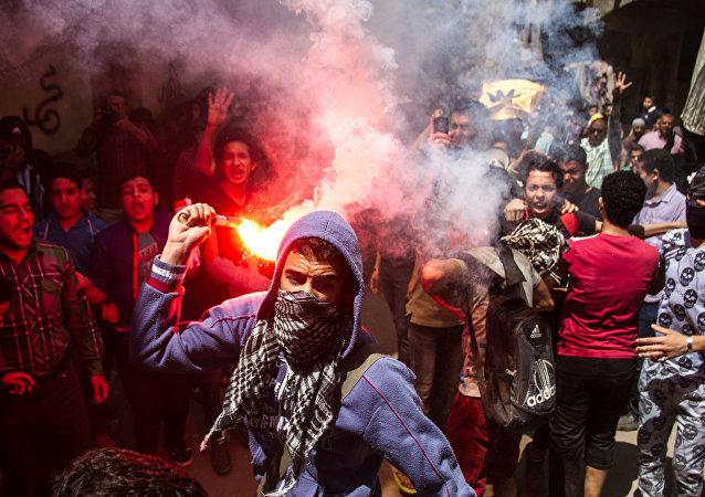 Manifestações em Egito. 24 de abril, 2015