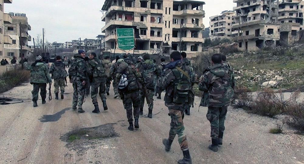 Militares sírios na província de Latakia