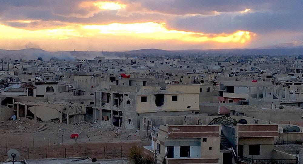 Daraya, subúrbio de Damasco e palco de combates entre o Exército Árabe Sírio e terroristas