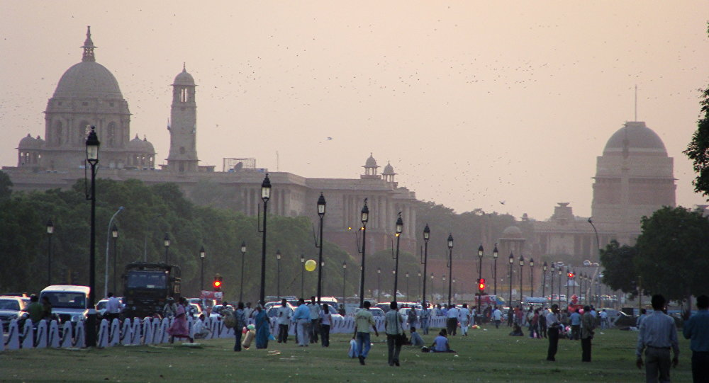 Vista do parque em Nova Delhi, Índia