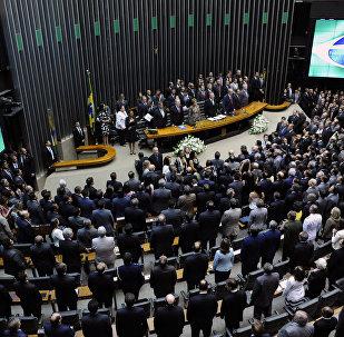 Sessão solene do Congresso Nacional para abertura dos trabalhos legislativos do segundo ano da 55ª Legislatura